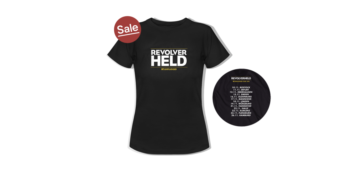 Shirt - Unplugged Tour Herbst, Schwarz, Girlie-Shirt