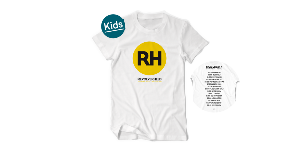 Kids Shirt - Festivals 2018, Weiß